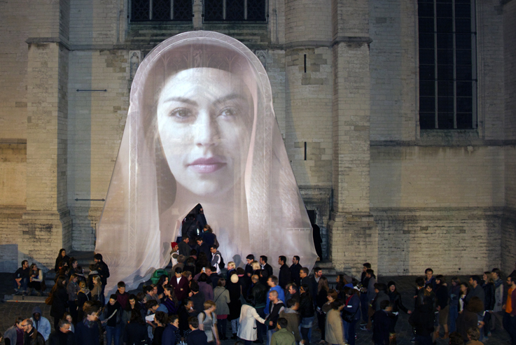 Awakening of Mary Nuit Blanche Brussels